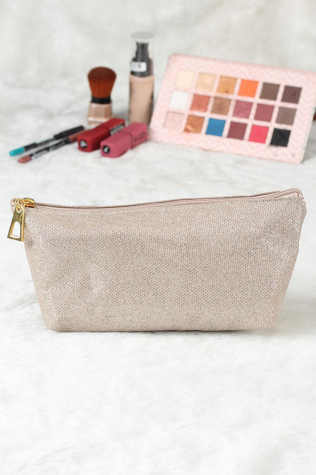 Women's Glitter Cream Makeup Bag