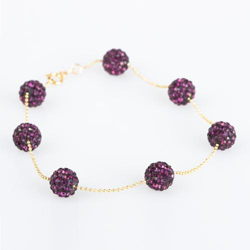 Women's Purple Gemmed Gold Bracelet