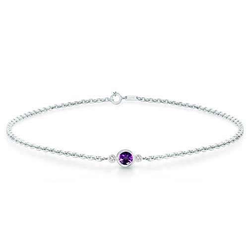 Women's Diamond Gemmed Amethyst Bracelet