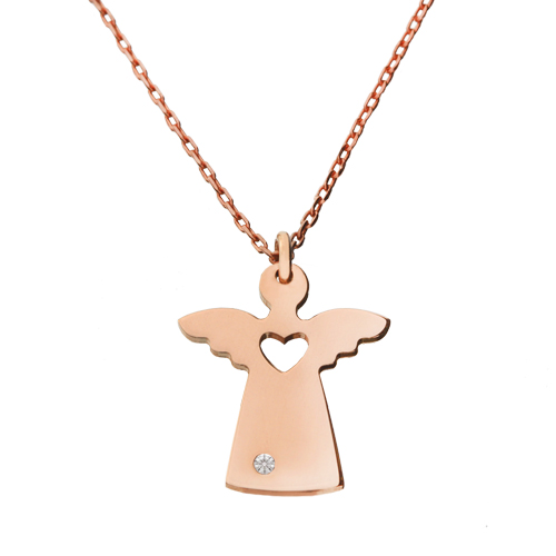 Women's Diamond Gemmed Angle Pendant Necklace