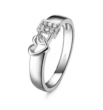 Women's 0,06 ct Diamond Gem Ring
