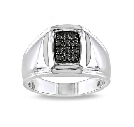Men's Gemmed Silver Ring