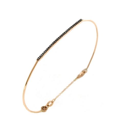 Women's Black Gemmed Bracelet