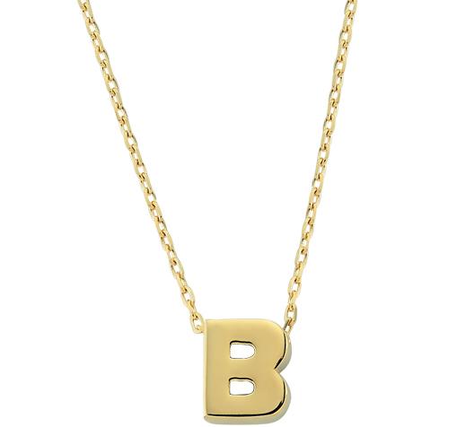 Women's Letter B Pendant Gold Necklace