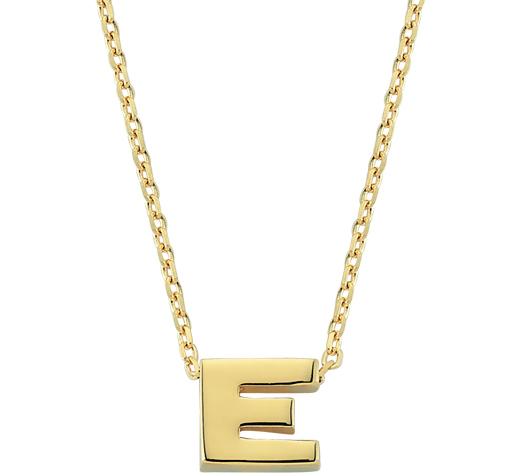 Women's Letter E Pendant Gold Necklace