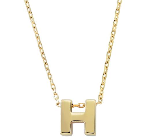 Letter H Pendant Gold Necklace