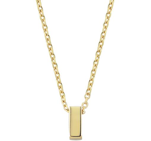 Women's Letter I Pendant Gold Necklace