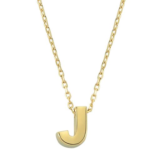 Letter J Pendant Gold Necklace