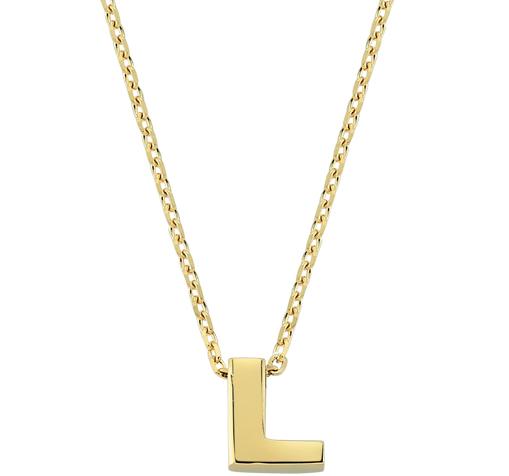 Women's Letter L Pendant Gold Necklace