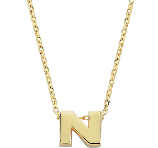 Women's Letter N Pendant Gold Necklace