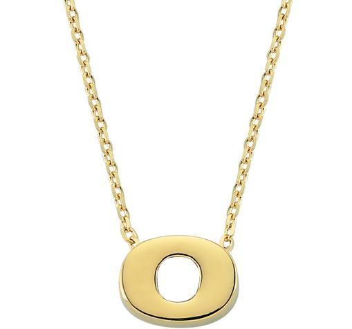 Women's Letter O Pendant Gold Necklace