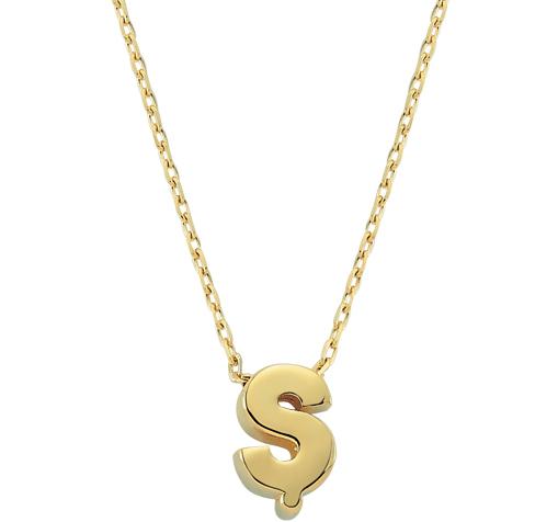 Women's Letter Ş Pendant Gold Necklace