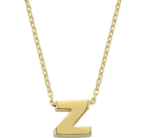 Women's Z Letter Pendant Gold Necklace