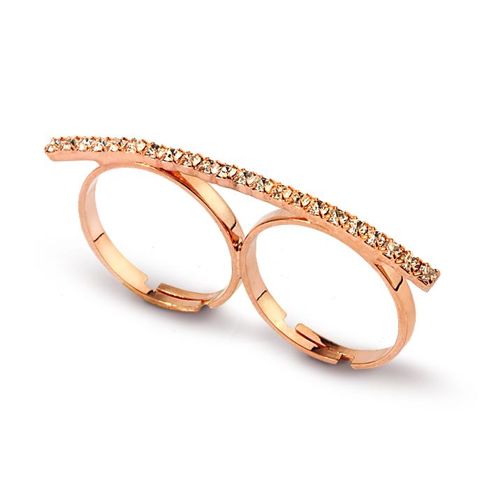 خاتم معدني بتصميم بومة نسائي