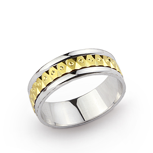 Unisex Gold Wedding Ring