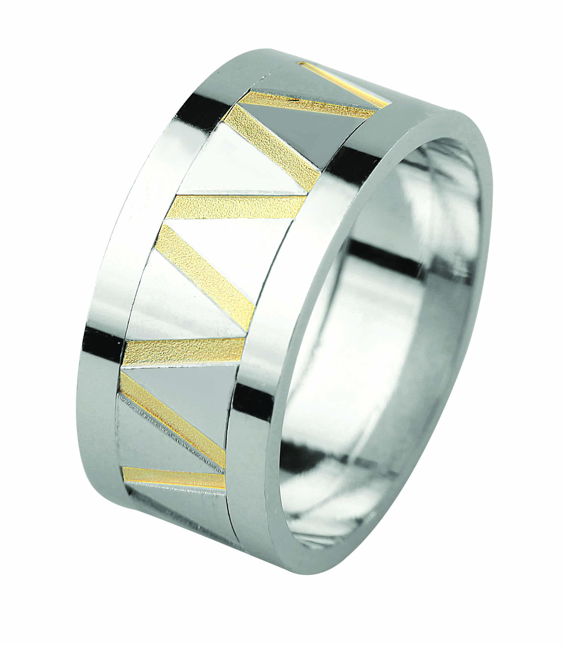 خاتم زفاف فضة للجنسين