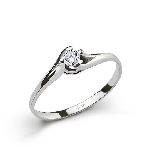 Women's 0,10 ct Diamond Single Gemstone Ring