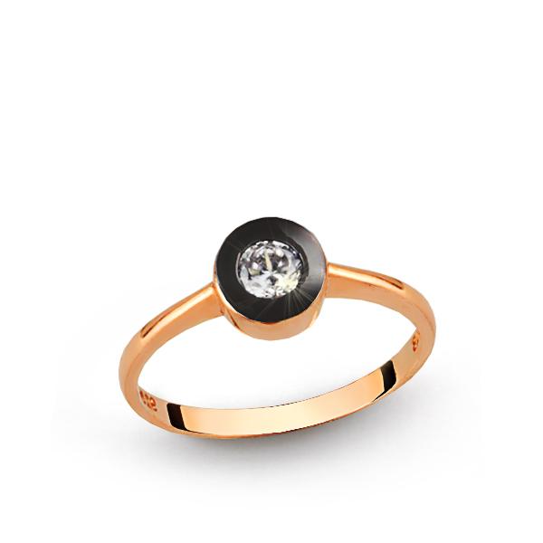 Women's Single Gem Silver Ring