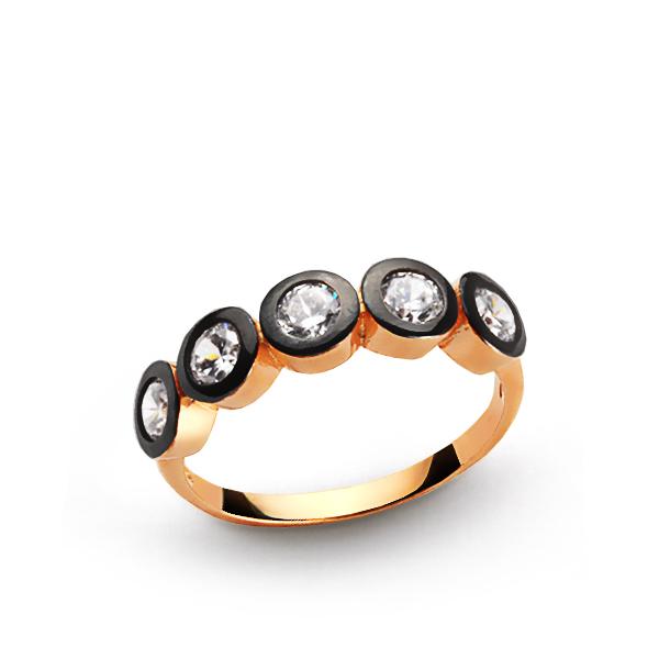 Women's Gemmed Silver Ring