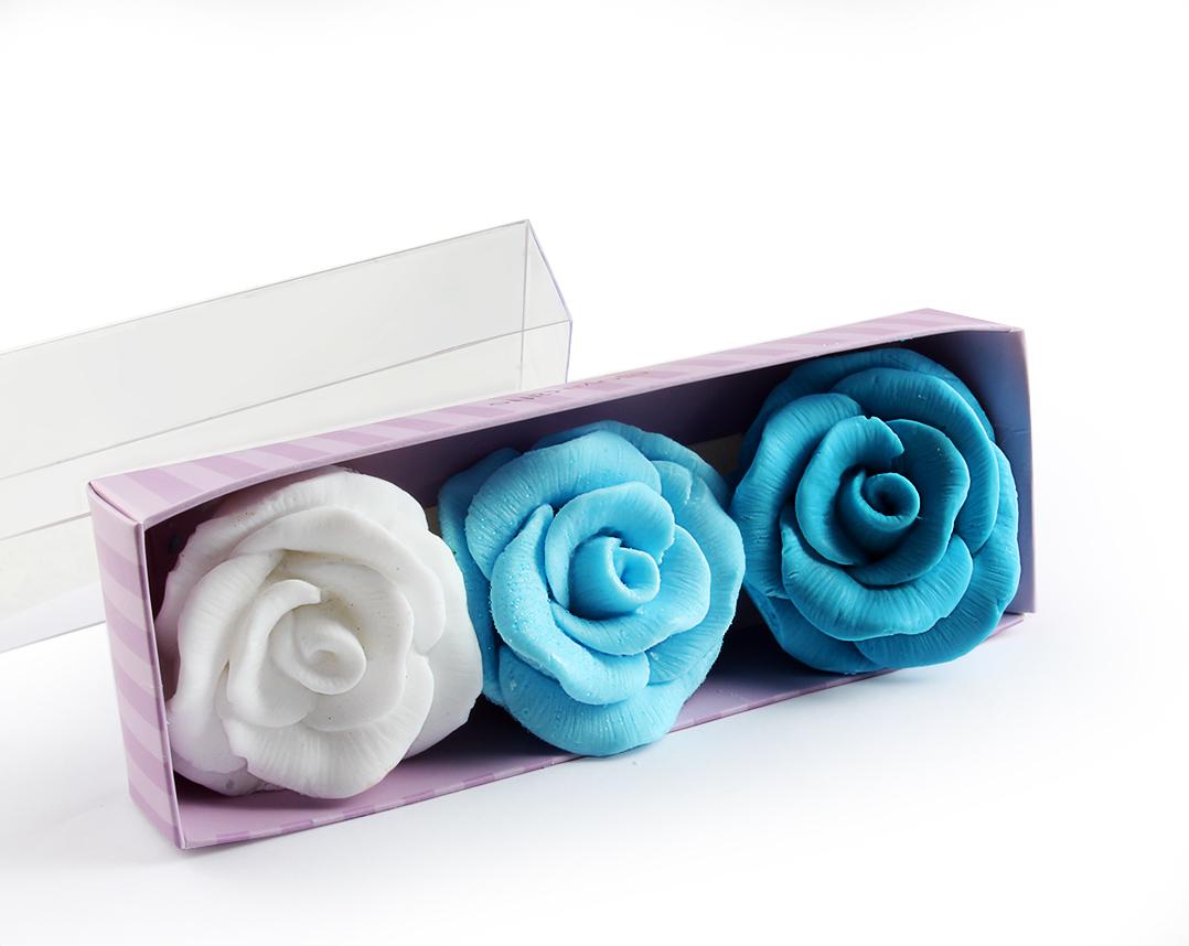 Rose Shape Scented Soap Gift Set