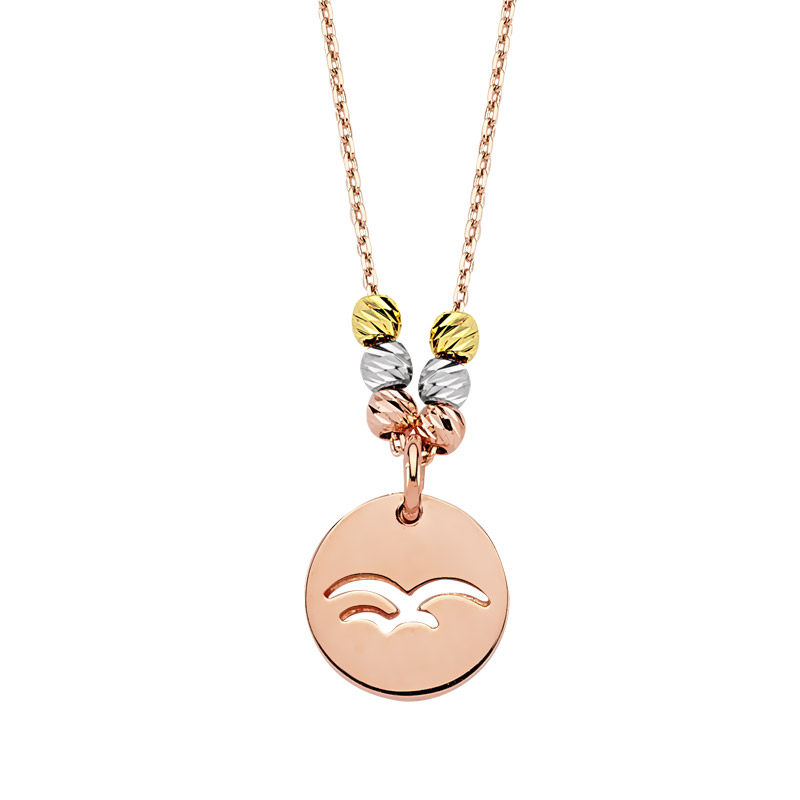 Women's Swallow Pendant Rose Plated Gold Necklace