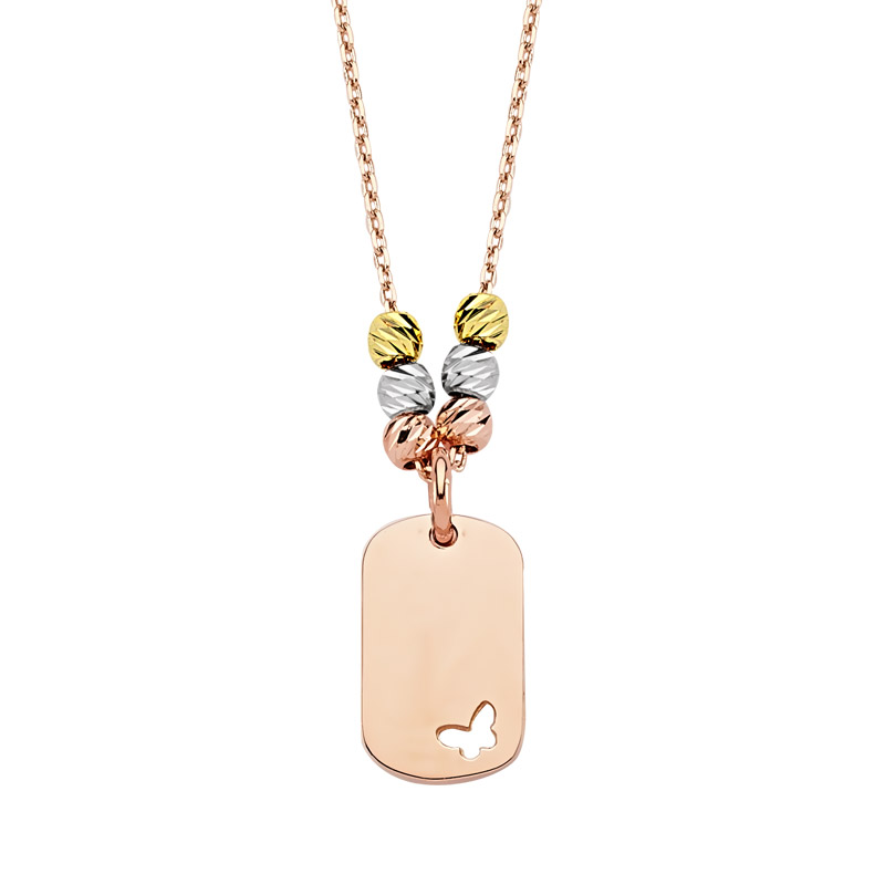 Women's Rose Plated Gold Necklace