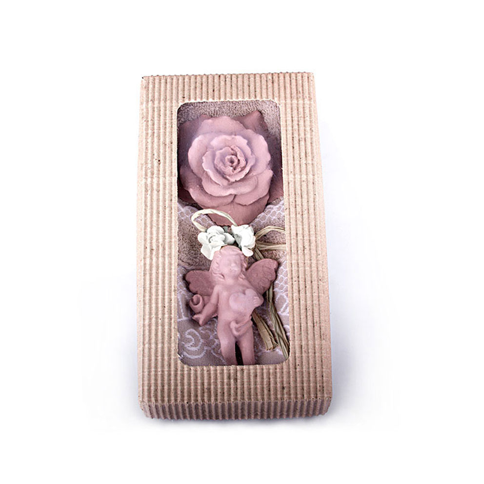 Beige Towel Peach Scented Stone Ornament Gift Set