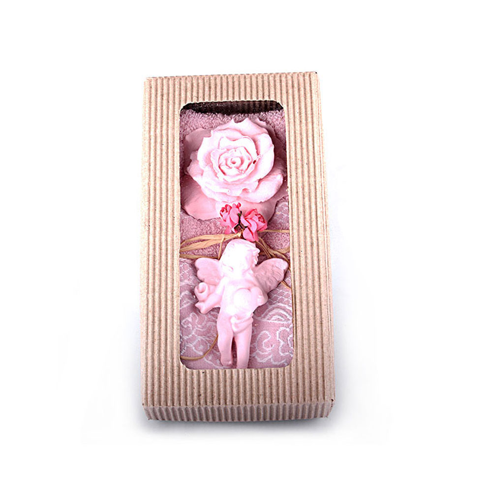Pale Pink Towel & Scented Stone Gift Set