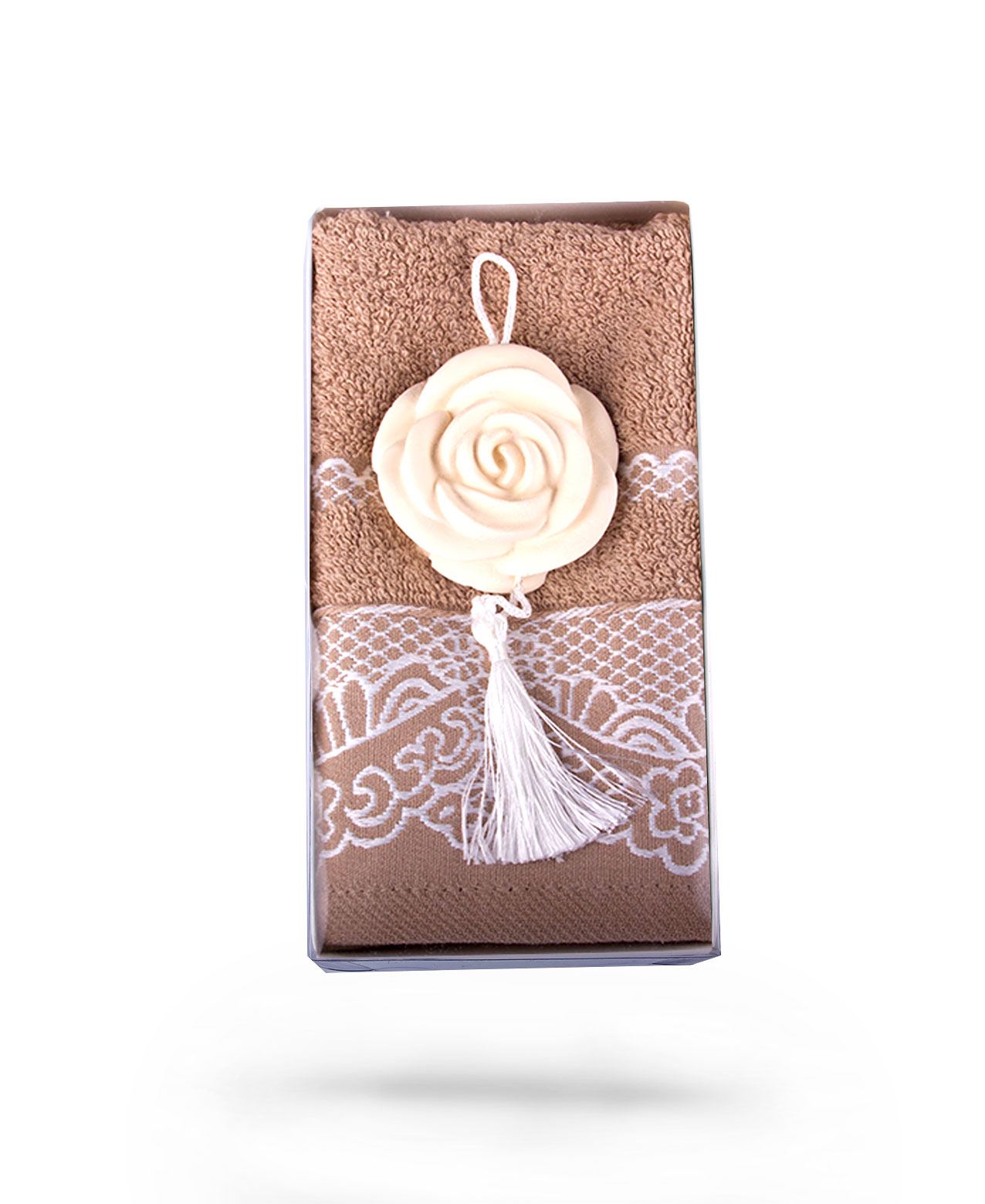 Brown Towel & Jasmin Scented Stone Wall Ornament Gift Set