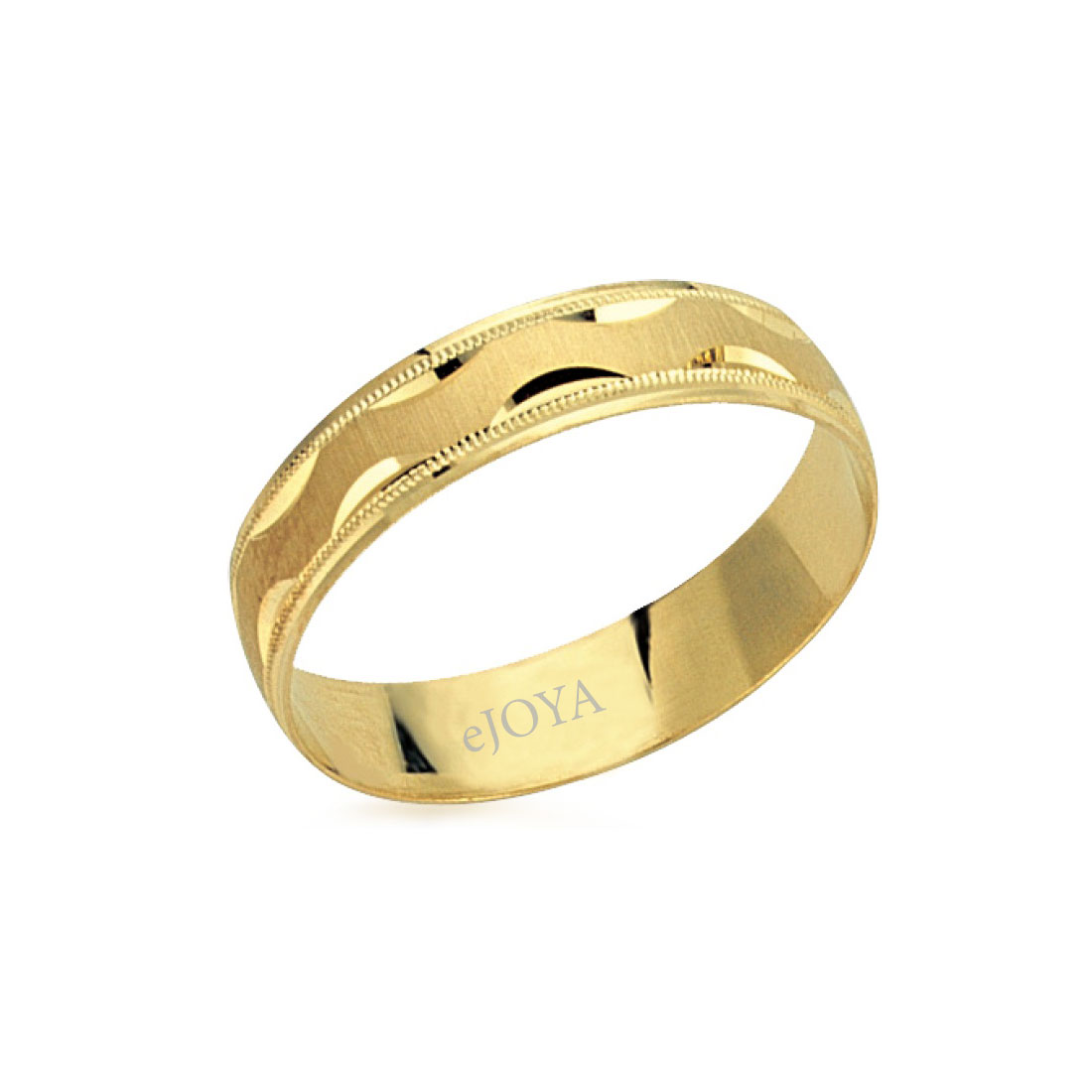 Unisex 14 Carat Gold Wedding Ring- 5 mm