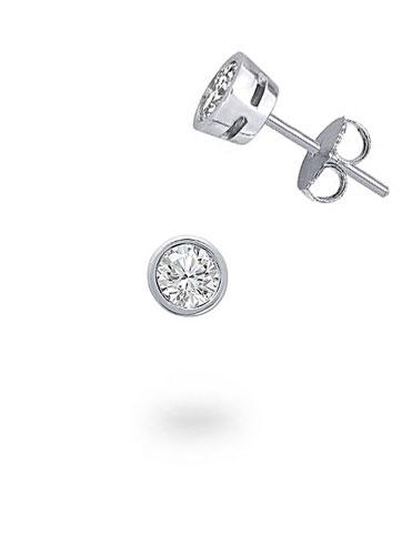 Men's 0,07 ct Diamond Gem Earrings