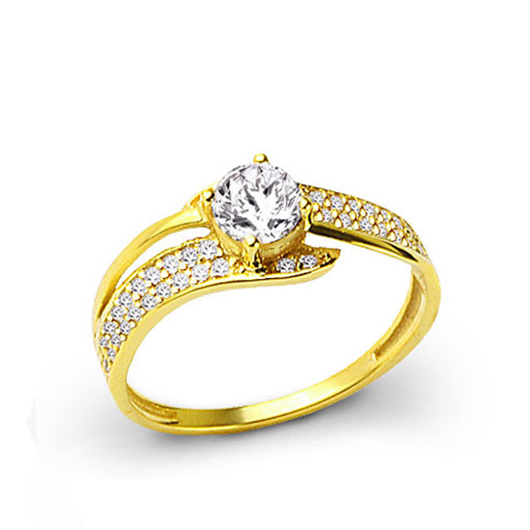 Women's Diamond Gem Gold Ring