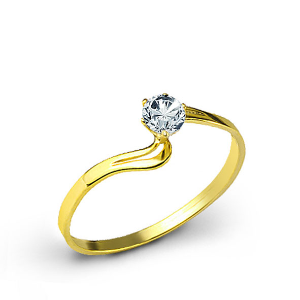 Diamond Gem Gold Ring