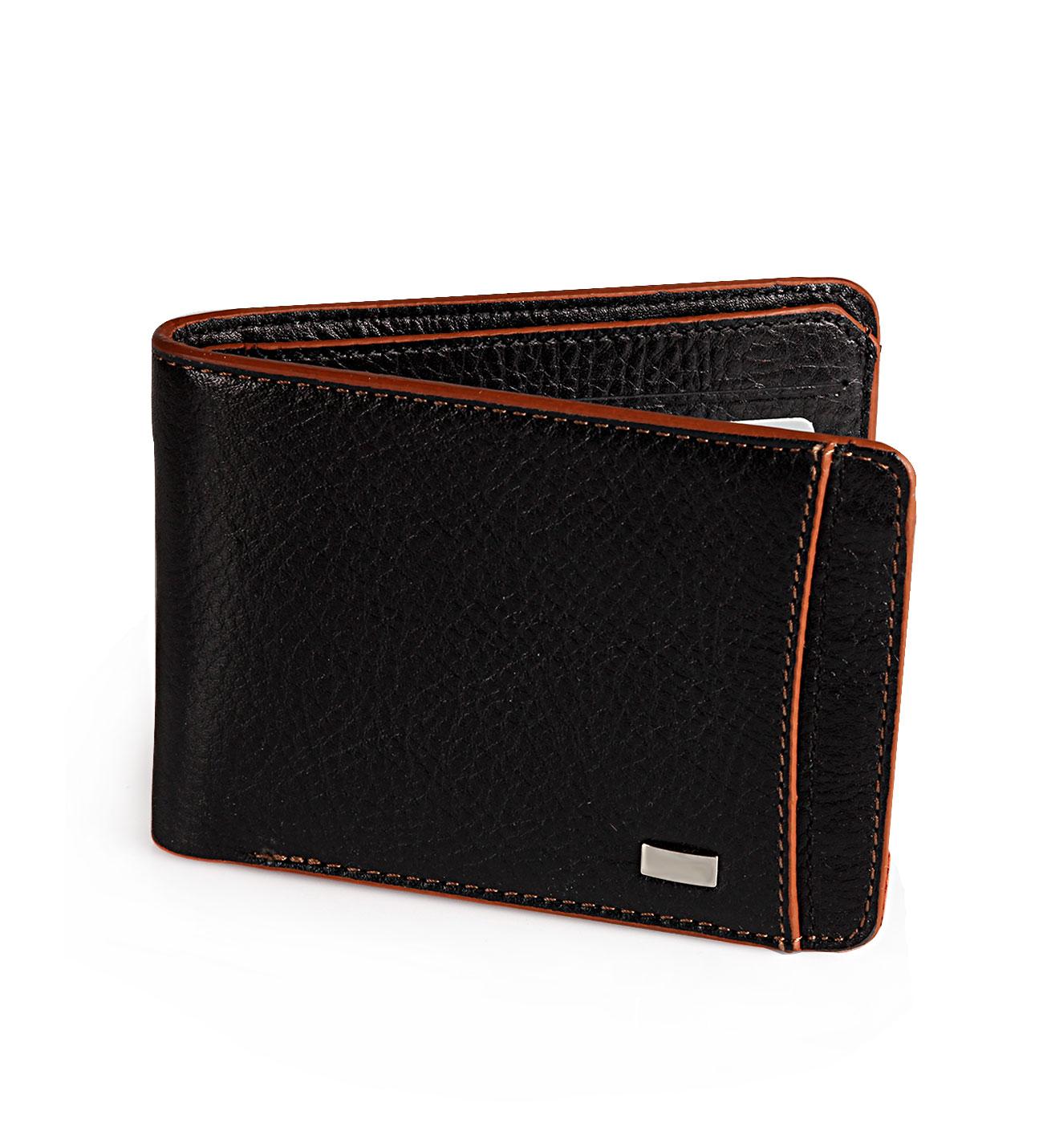 محفظة جلد سوداء رجالي