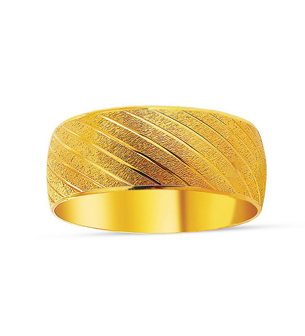 Women's Laser Embroidered 22 Carat Gold Plated Bracelet