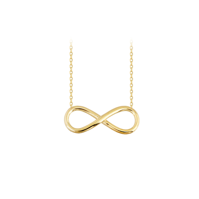 Women's Infinity Pendant 14 Carat Gold Necklace