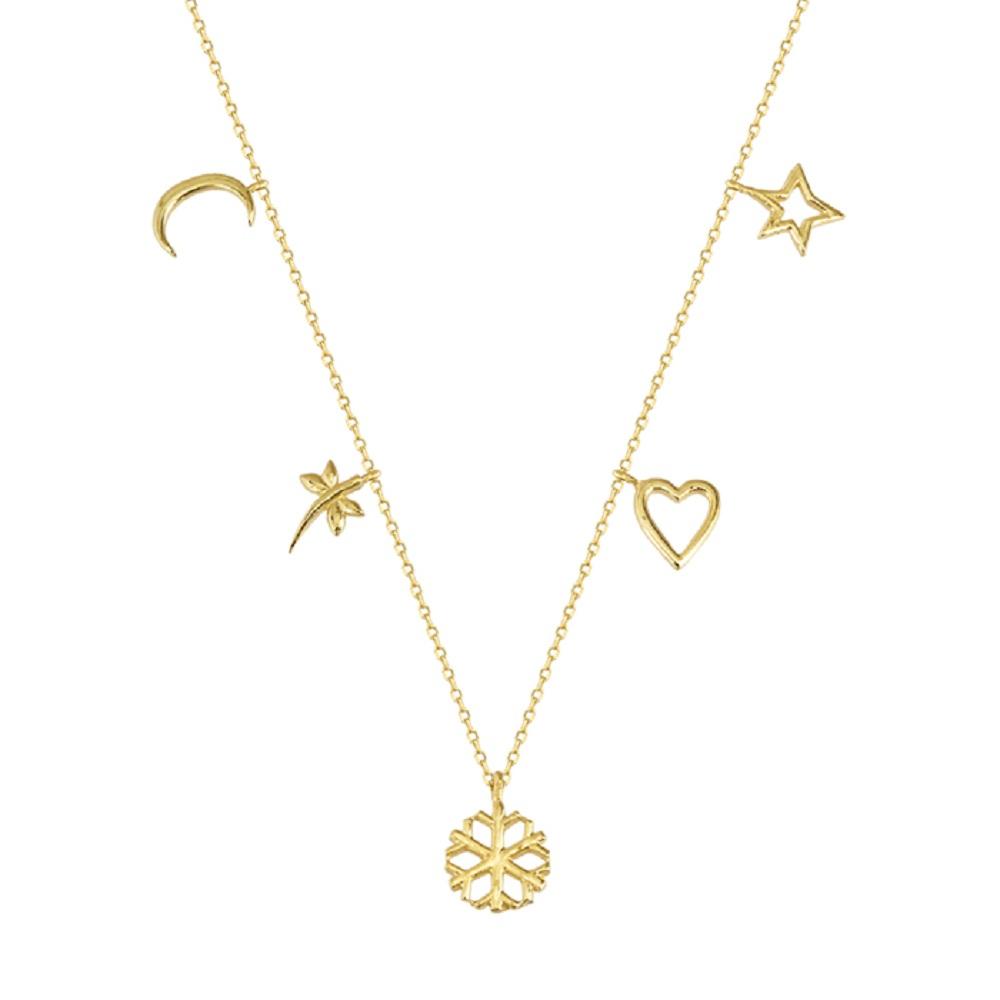 Women's Mixed Figure 14 Carat Gold Necklace