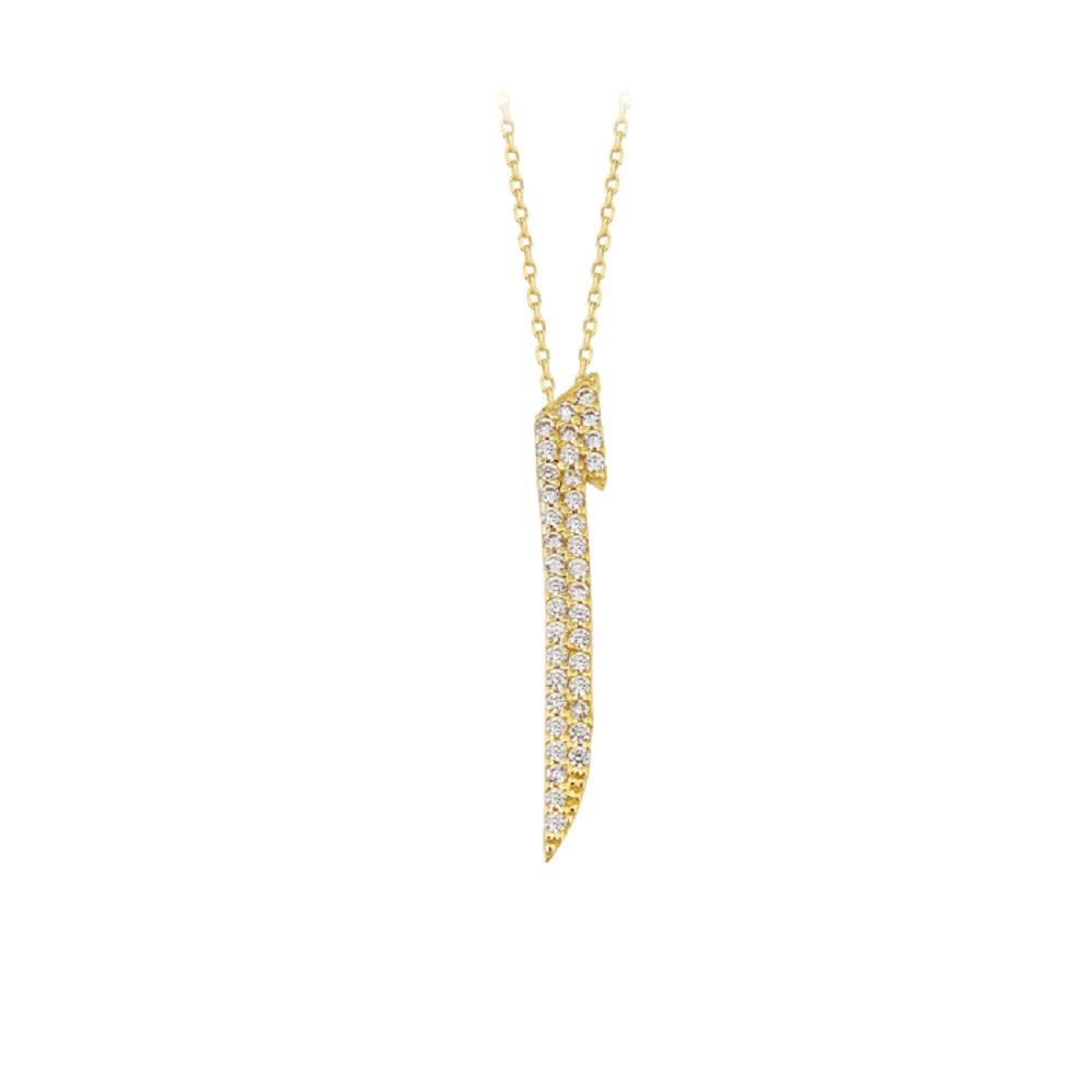 Women's Gemmed Elif Pendant 14k Gold Necklace