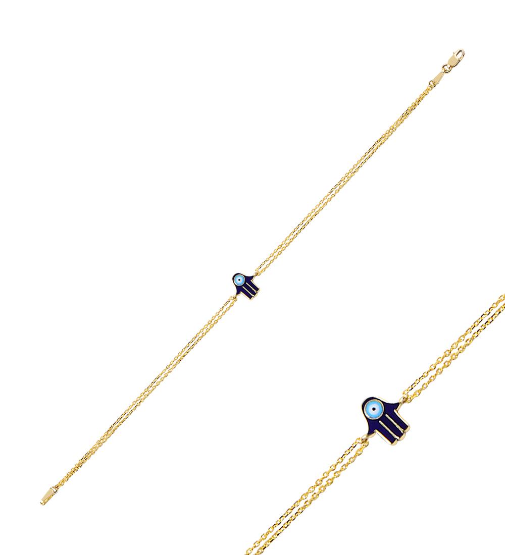 Women's Hand Accessory Gold Bracelet
