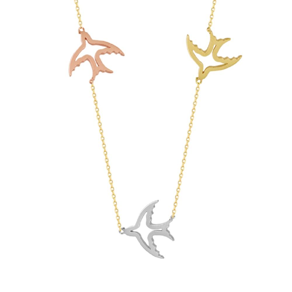 Women's Fish Pendant 14k Gold Necklace