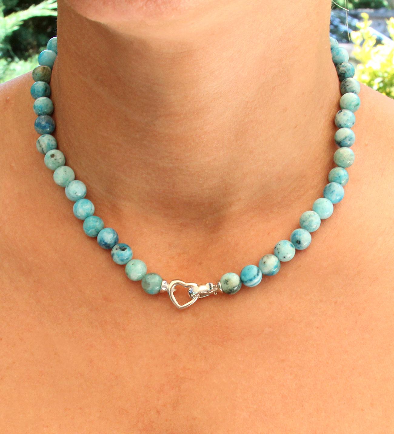 Women's Natural Hemimorphite Gem Necklace