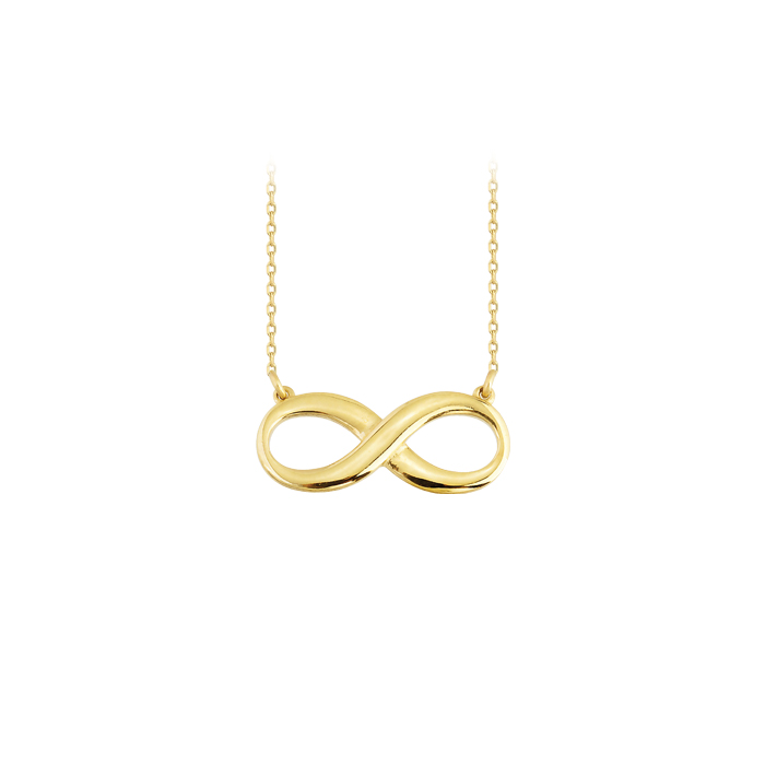 Infinity Pendant 14 Carat Gold Necklace