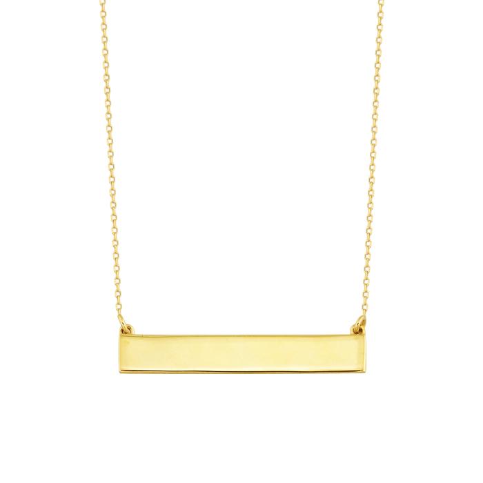 Women's Stick Pendant 14 Carat Gold Necklace
