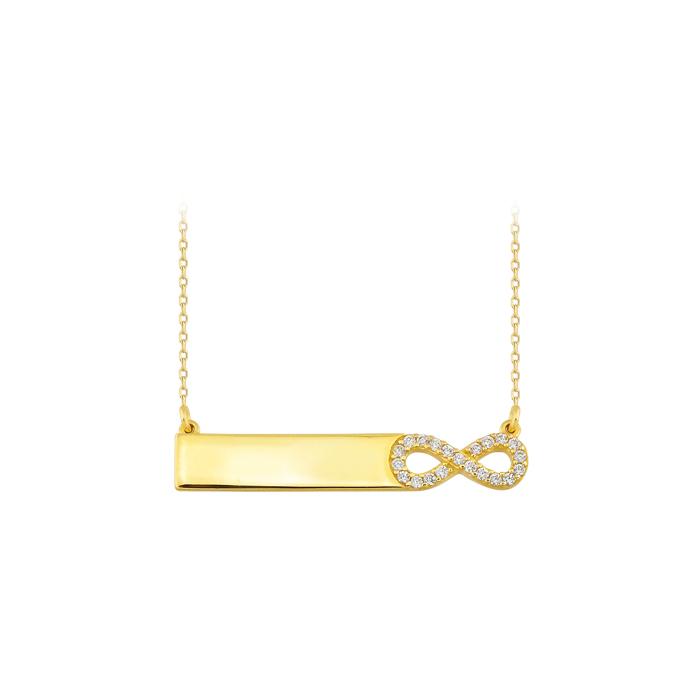 Gemmed 14 Carat Gold Necklace