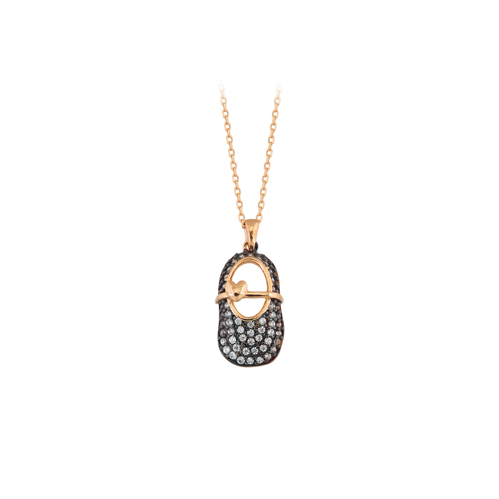 Women's Gemmed 14 Carat Gold Necklace