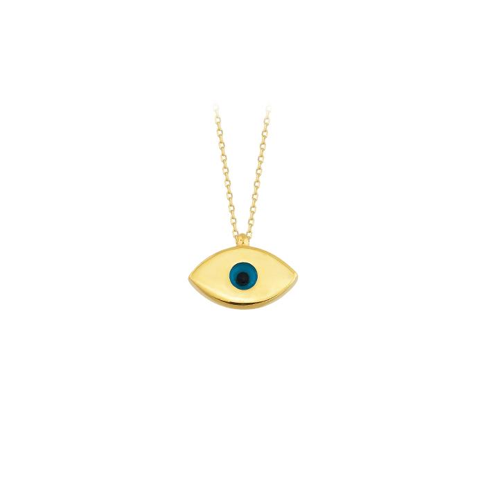 Eye Pendant 14 Carat Gold Necklace