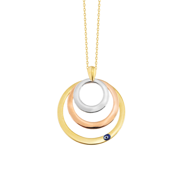 Circle Pendant 14 Carat Gold Necklace