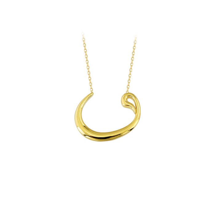 Vav Pendant 14 Carat Gold Necklace