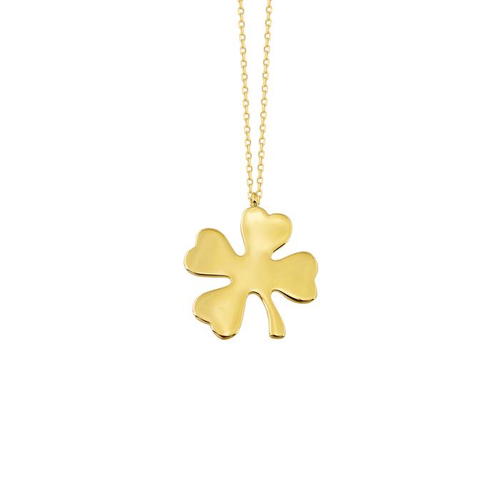 Women's Clover Pendant 14k Gold Necklace