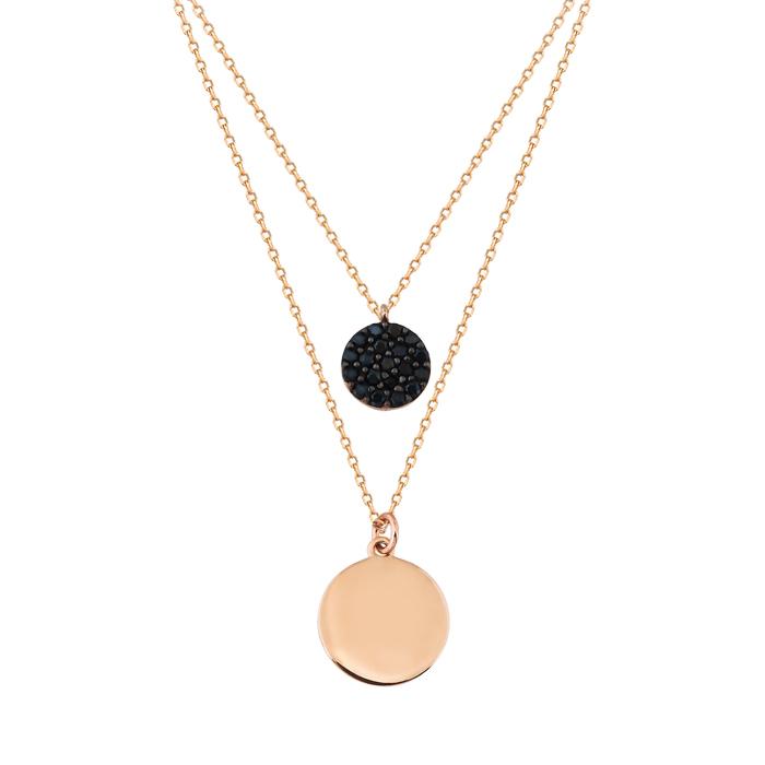 Circle Pendant 14 Carat Gold Necklace